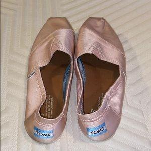 Toms Ballet Pink slip-ons